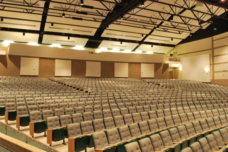 Seats inside the Blackfoot Performing Arts Center
