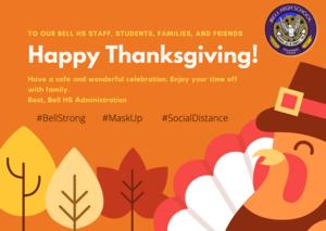 Orange Illustrated Turkey Thanksgiving Card.png