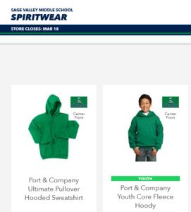 SV Spiritwear Store
