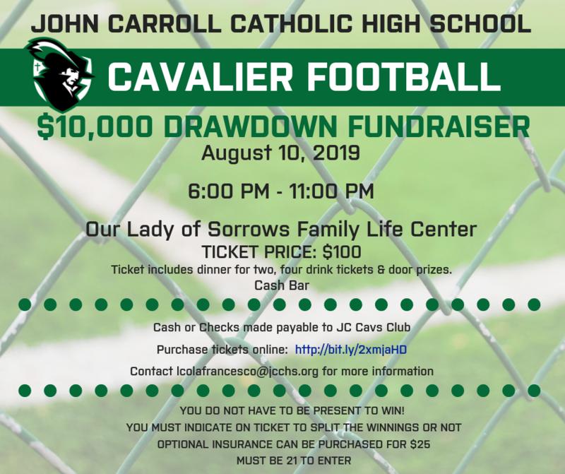 Cavalier Football $10,000 Drawdown Fundraiser Featured Photo