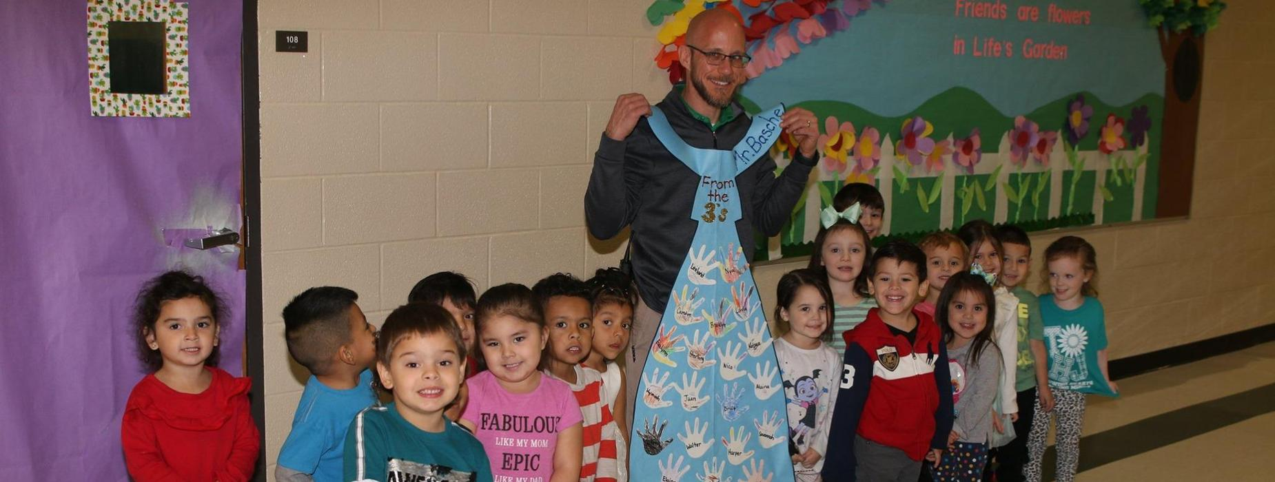 Mr. Basche and the 3 year old class