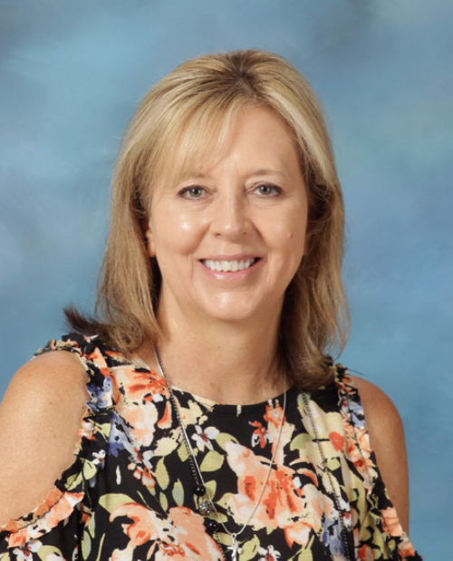 Mrs. Roten, school receptionist and bookkeeper.