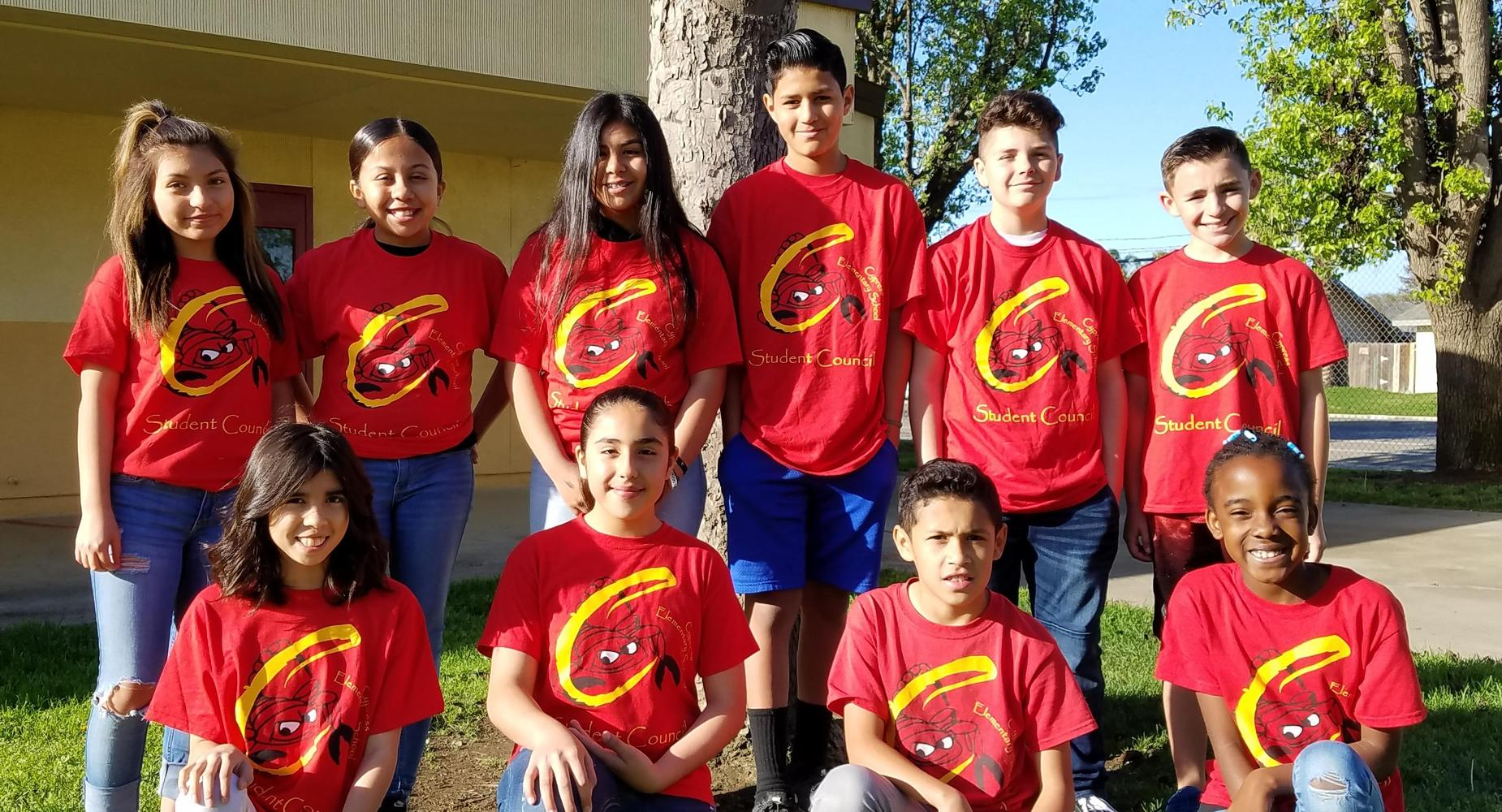 Cypress students who participated in student council