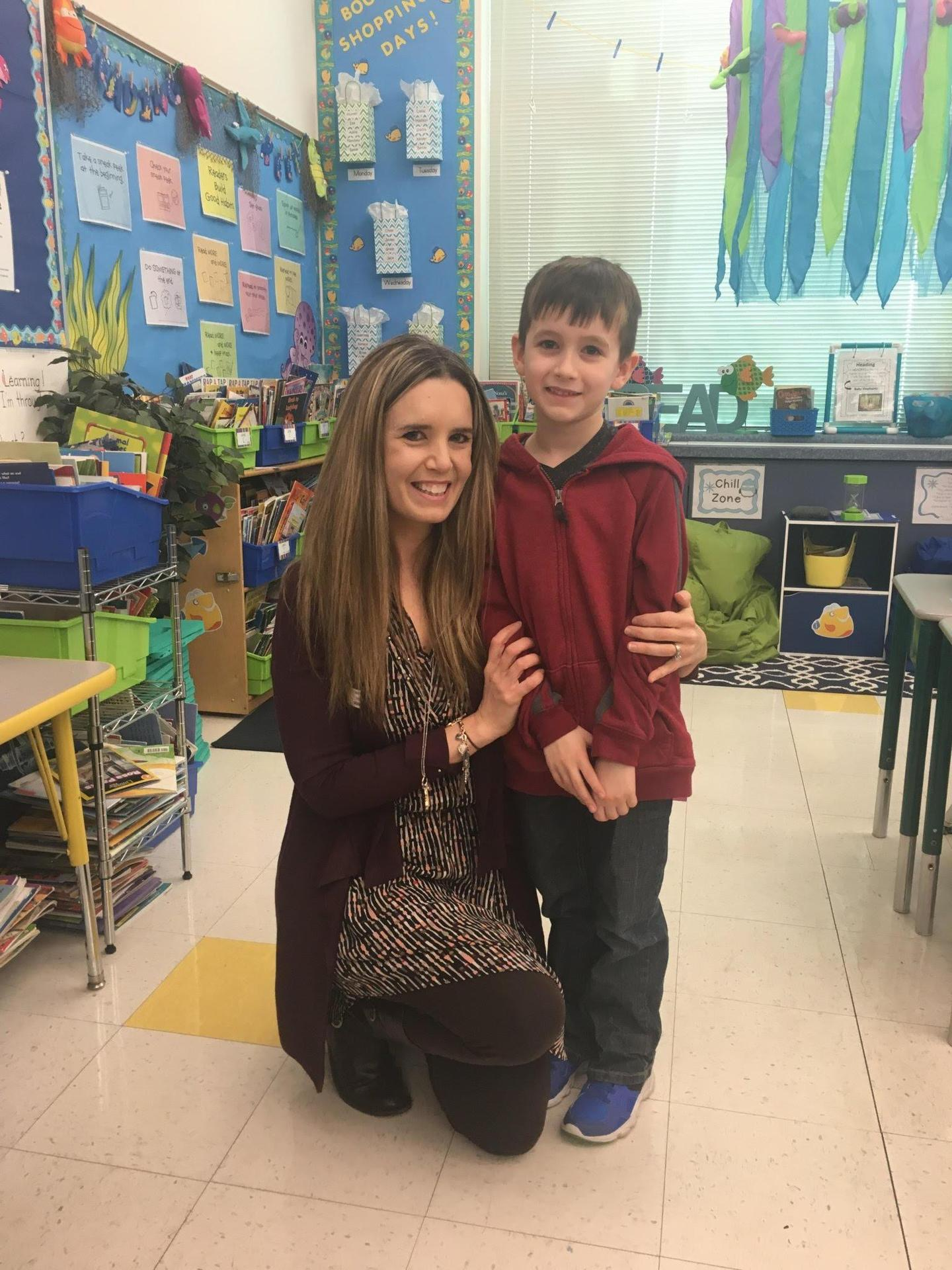 Mrs. Forcucci and Lucas, her son