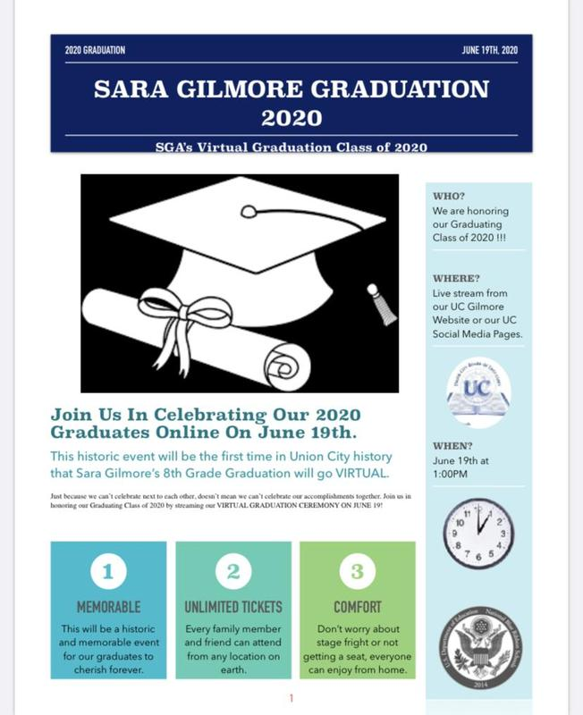 Virtual Graduation Flyer