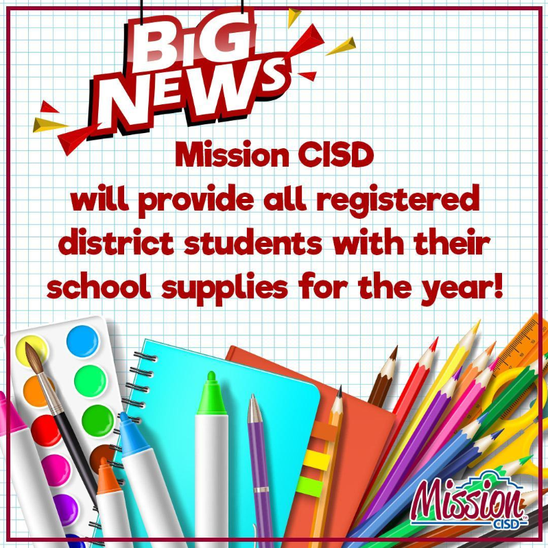 School Supply Announcement Featured Photo