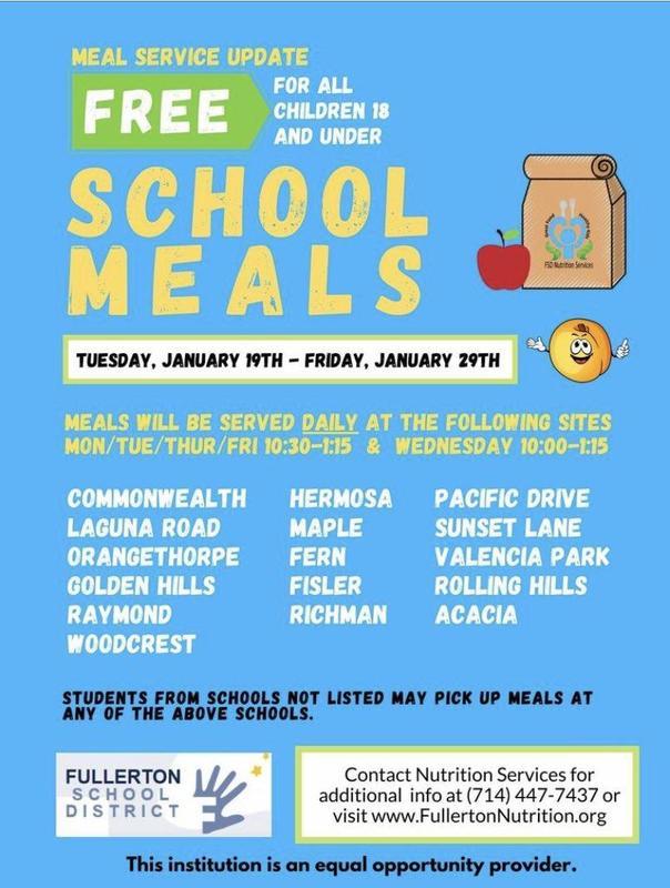 School Meals Flyer