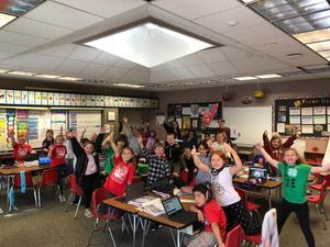 Mrs. Simpsons class won classroom attendance award