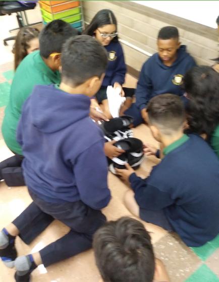 First Week of School Teamwork - Building Shoe Towers