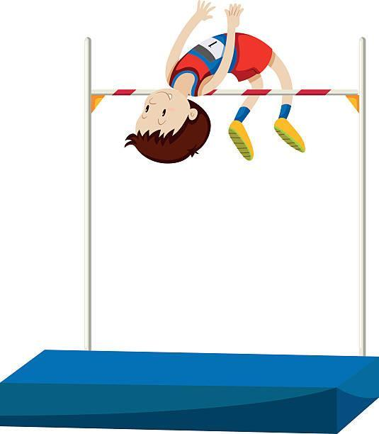 clipart of a high jumper