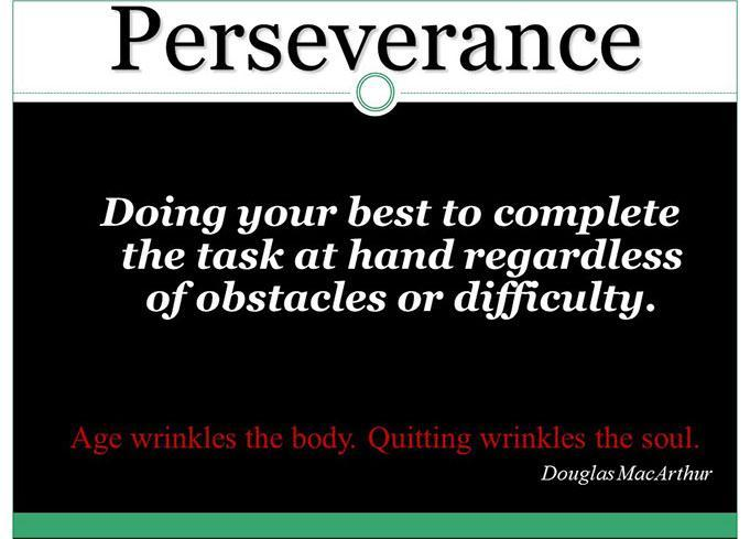Core Value- Perseverance