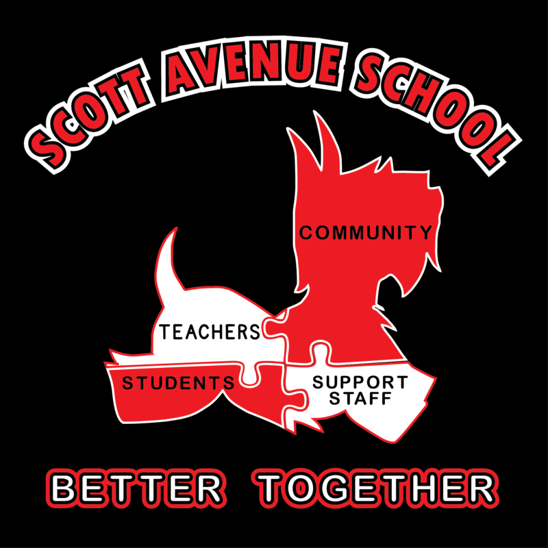 scotty dog puzzle image with the words teachers, support staff, community, students as the puzzle pieces