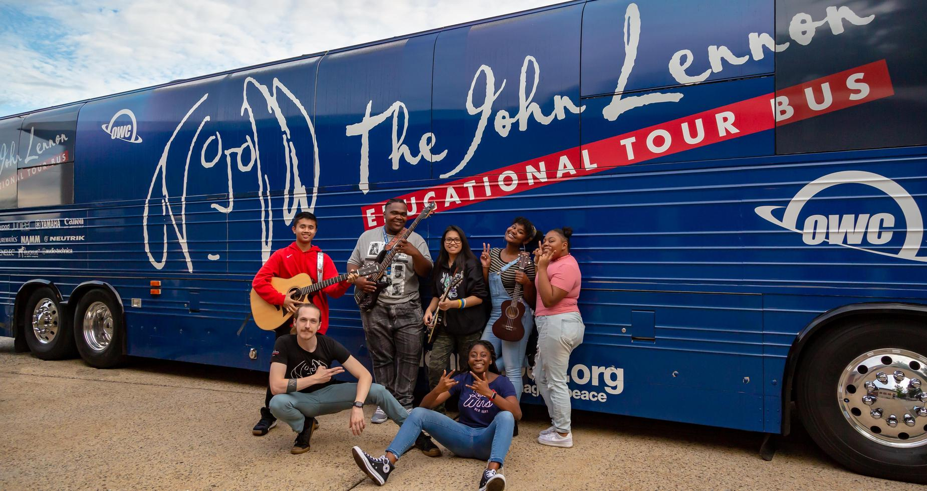 Students at the John Lennon Experience