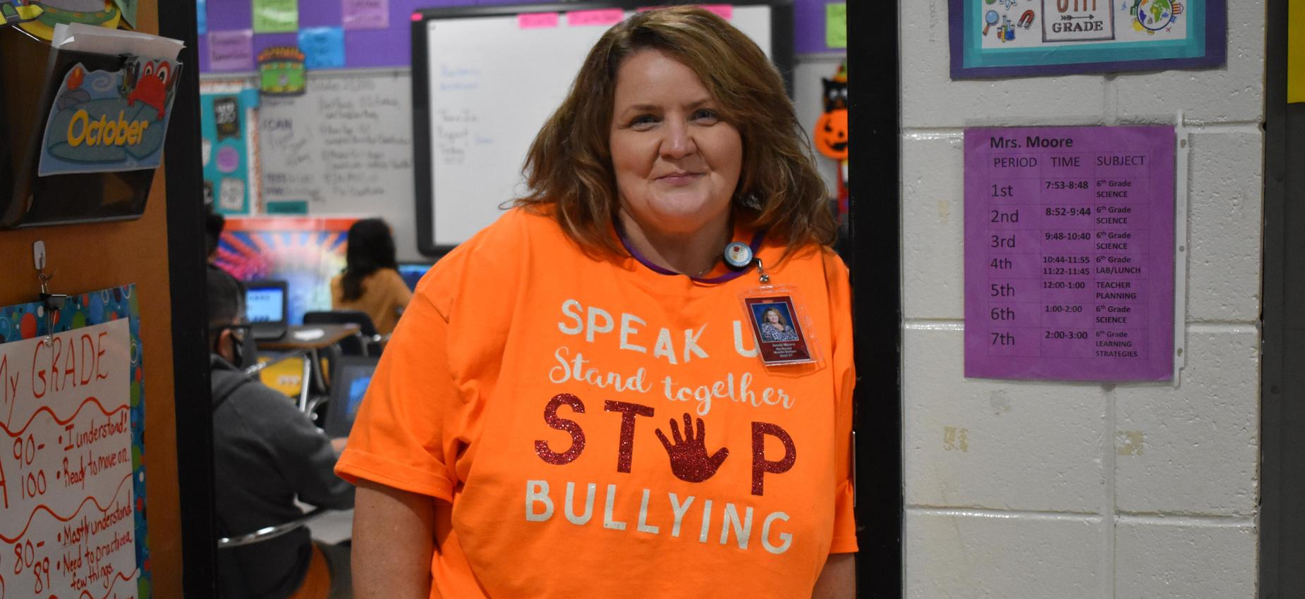 Teacher participating in Red Ribbon Week.