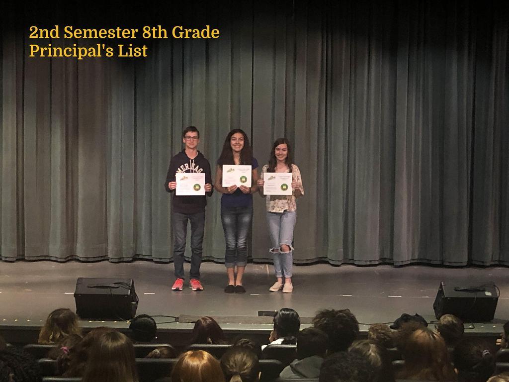 S2 8th Grade Principal's List