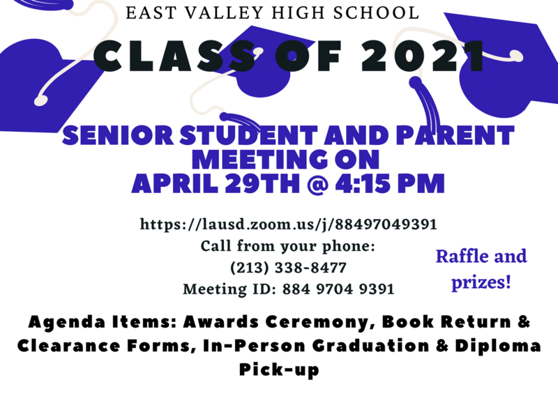 Senior Student and Parent Meeting Flyer Image