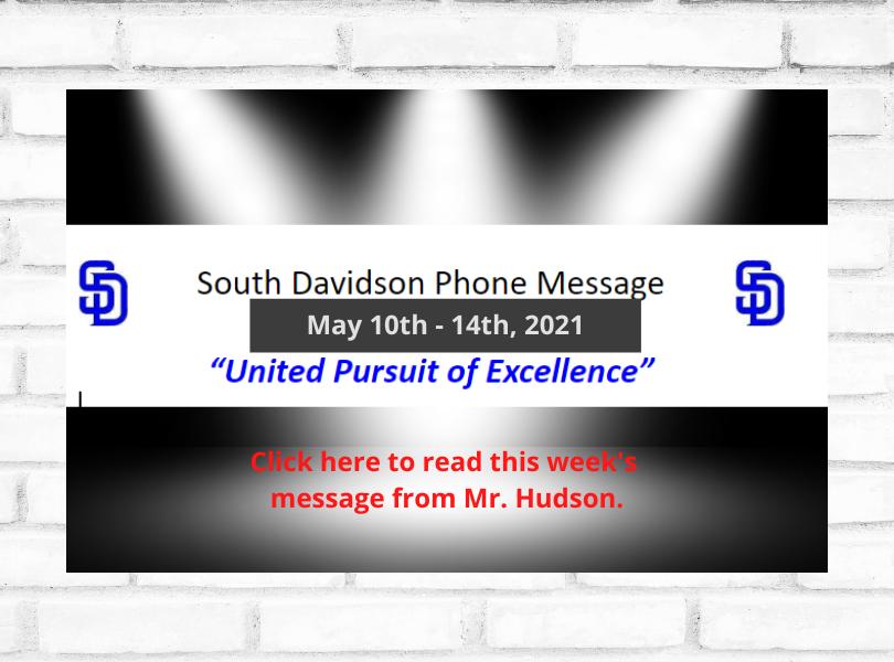 Mr. Hudson's Message