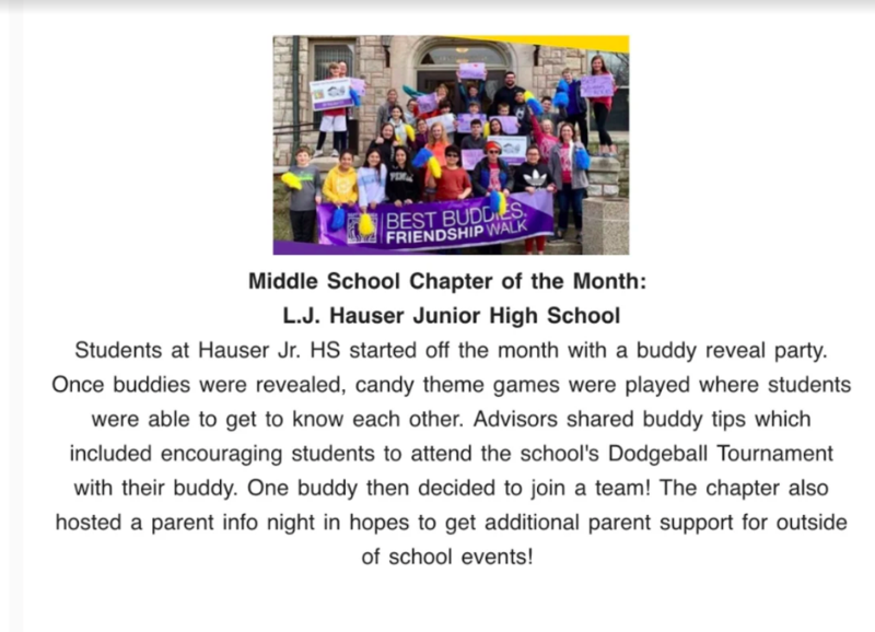 Best Buddies - Chapter of the Month! Featured Photo