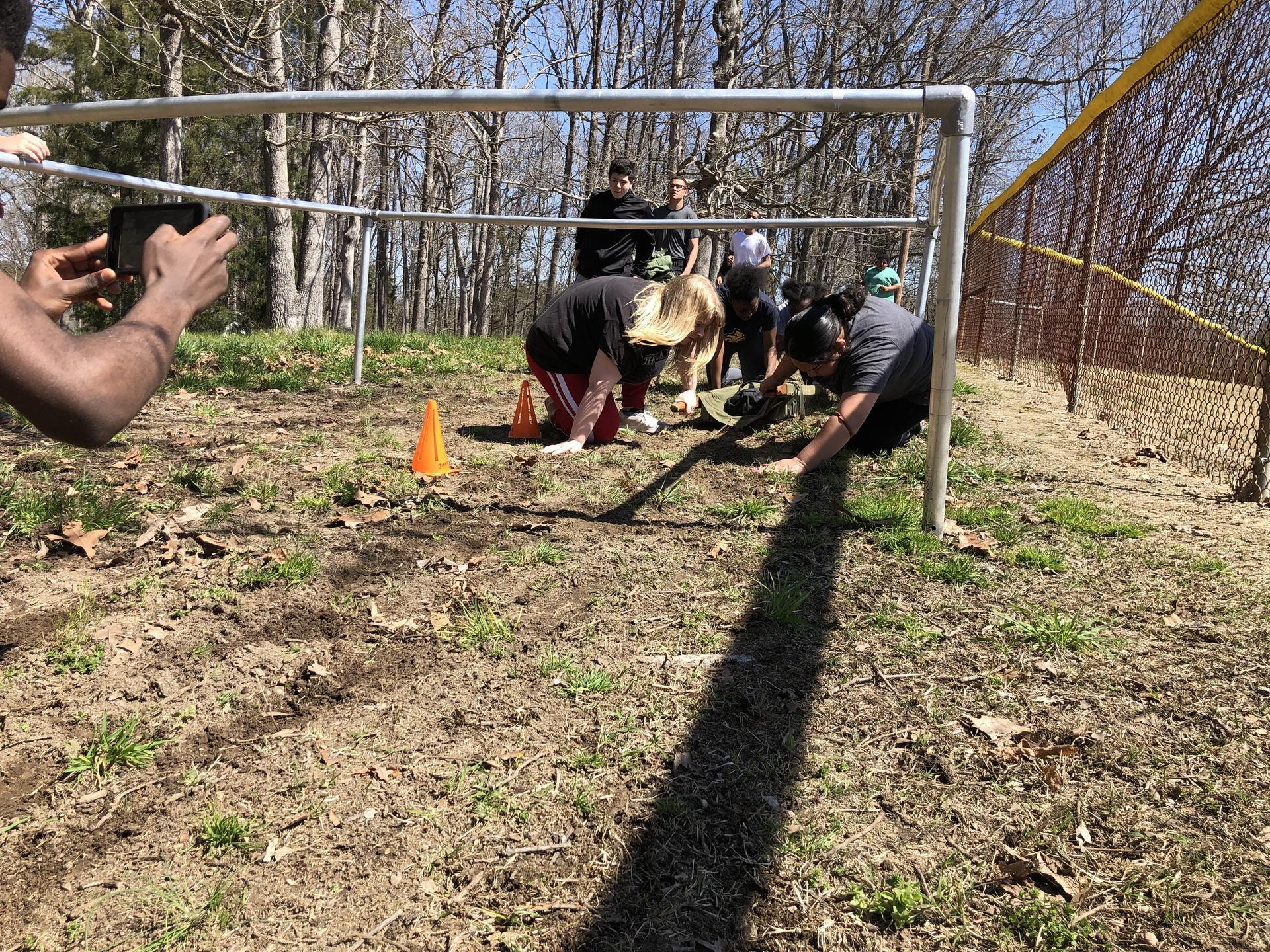 Bulldog JROTC Physical Training Low Crawl