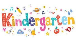 the word kindergartner in all different colors and designs