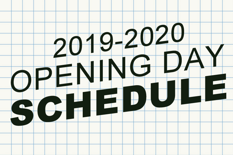 Image Opening Day Schedule