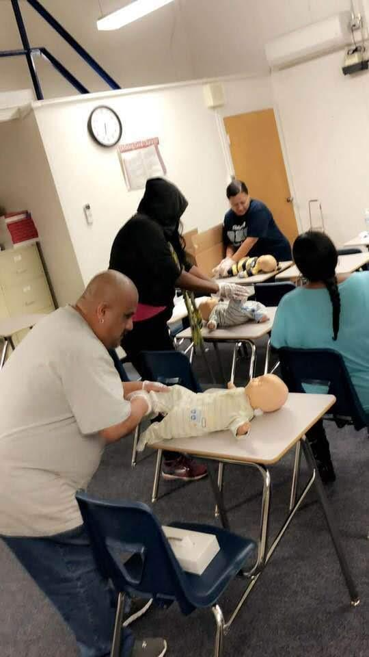 CPR training at BHS parent center
