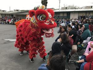 Special lion dancers perform at Lairon.