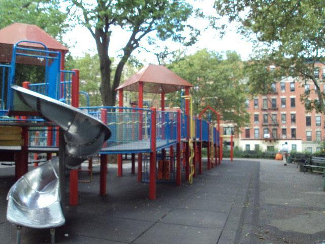 child's playground equipment at Jacob h schiff park