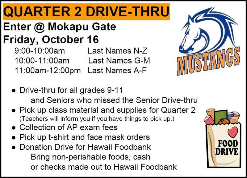 Quarter 2 Drive-thru--Friday, October 16 Featured Photo