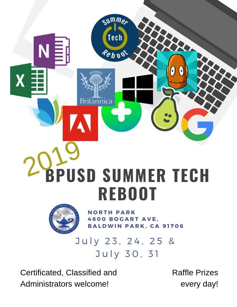 Summer Tech Reboot flyer