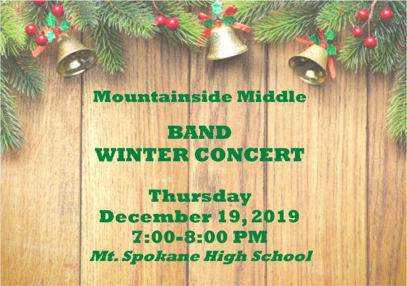 Band Winter Concert flyer