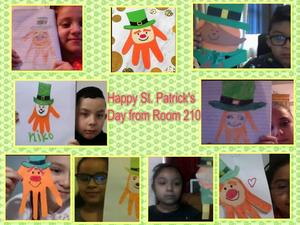 Hand Leprechaun project collages