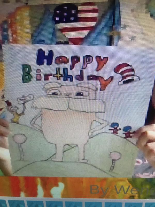 The lorax drawing with
