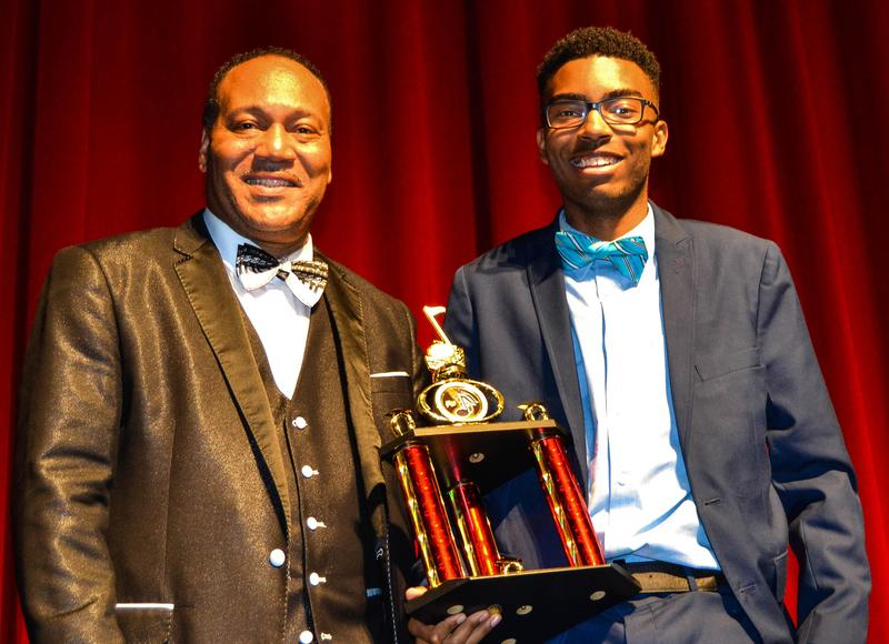 Mr. Moore with Maurice Smith, Outstanding Music Winner