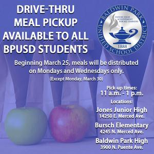 To help ensure that every child that needs access has it, the District has revised its free breakfast/lunch distribution plan to serve on Mondays and Wednesdays, except on Monday, March 30, as it is a holiday.