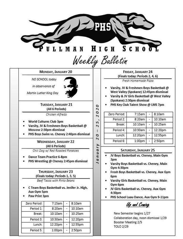 PHS Weekly Bulletin Thumbnail Image