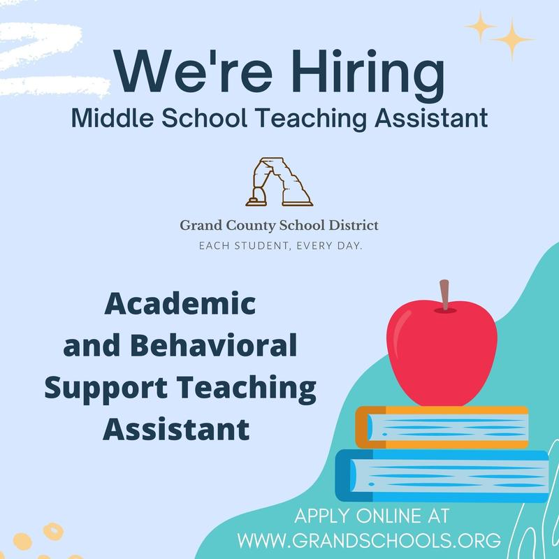 Open position for teaching assistant at Margaret L. Hopkin Middle School Featured Photo