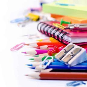 Picture of pencils and school supplies