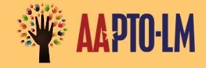 Yellow background with blue and red lettering saying AAPTO-LM.