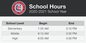 School times graphic