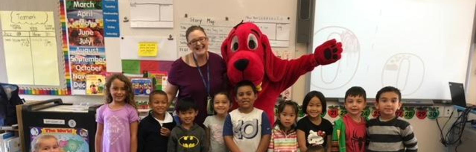 Students with Clifford