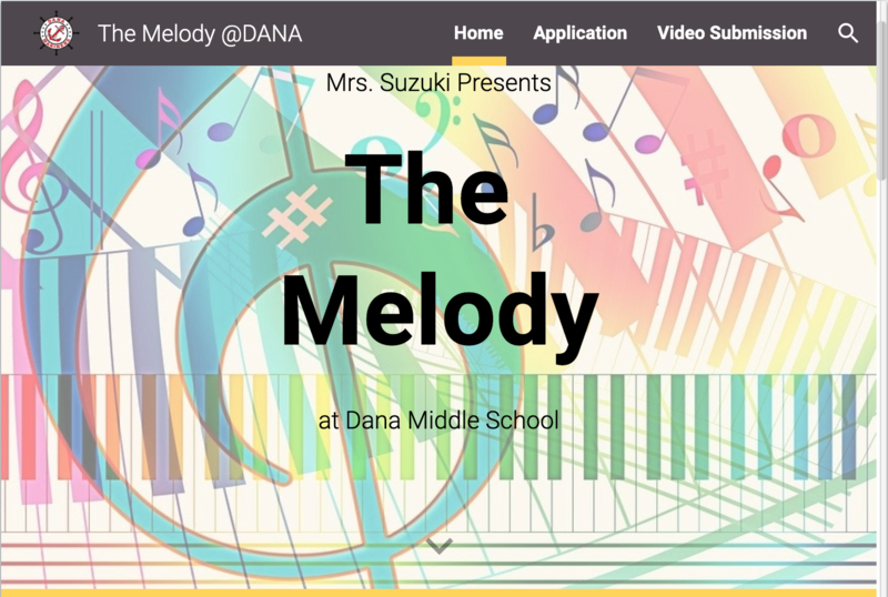 a sign that says the melody with music notes