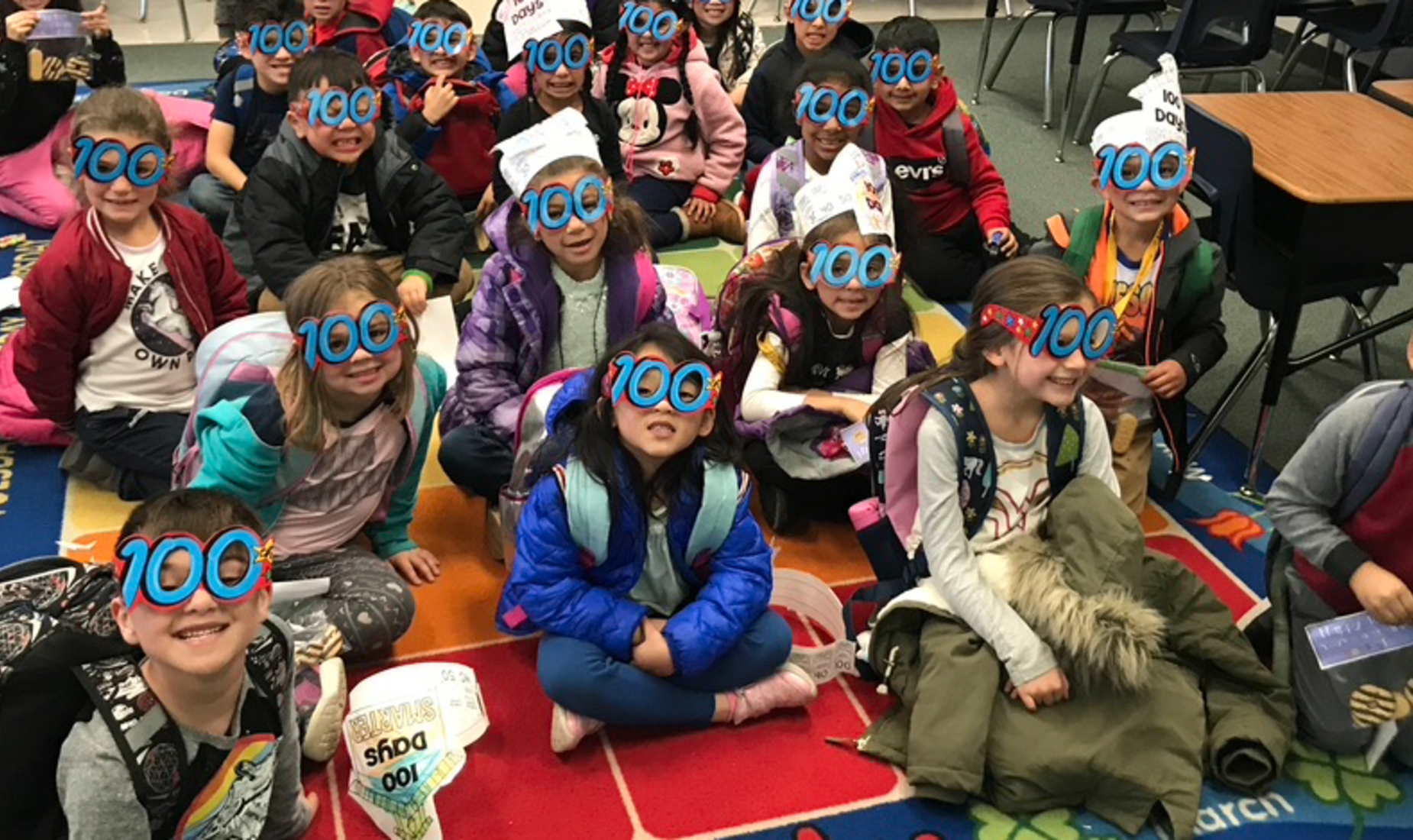 Mrs. Ghelardi's class on 100th day