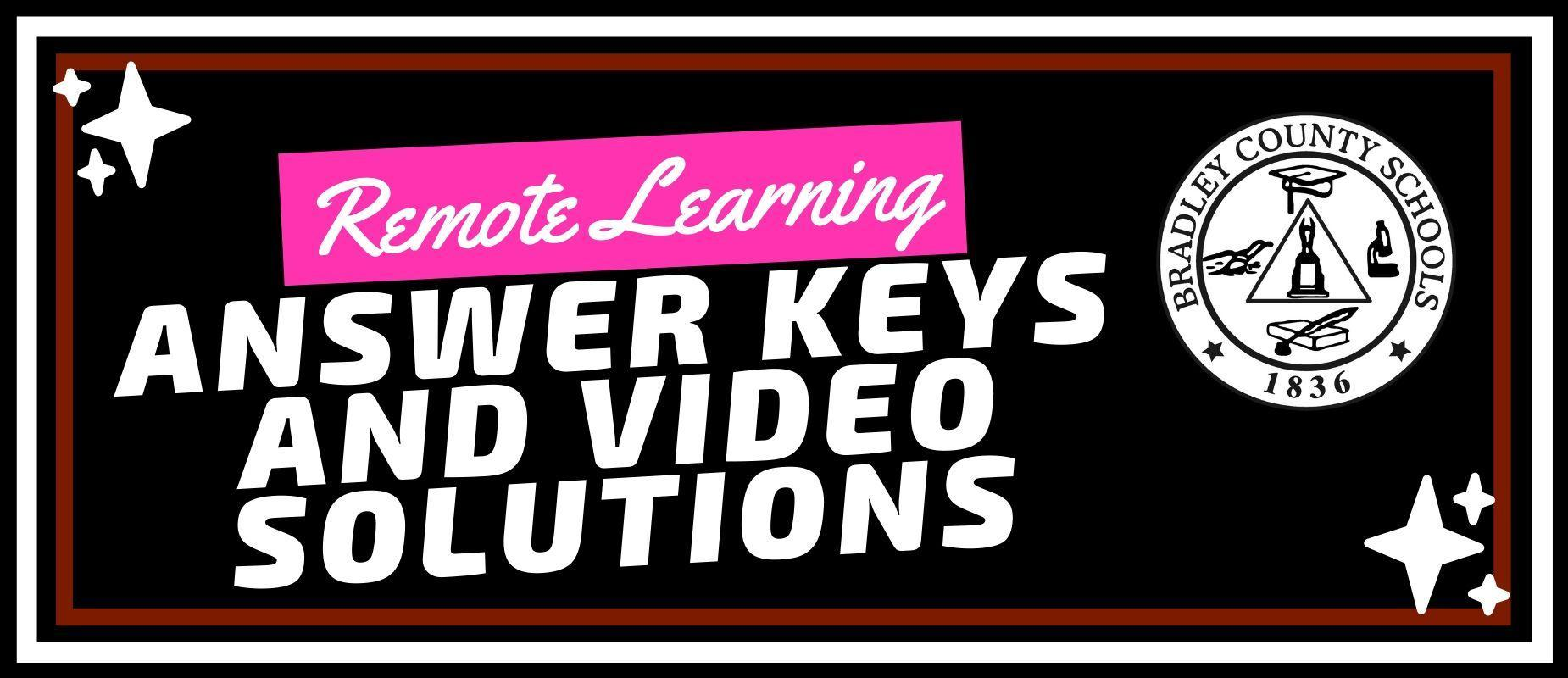 Answer Keys and Video Solutions
