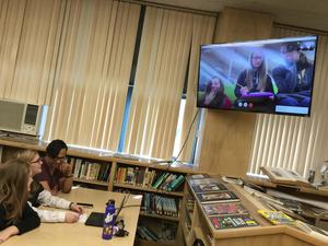 Students in Battle of the Books with Alaska Students