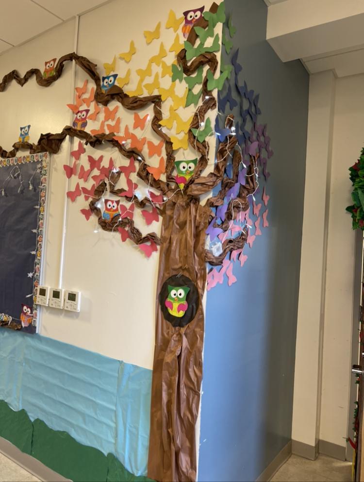 Tree decoration on floor