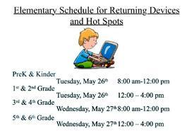 Elementary Schedule for Returning Devices Featured Photo
