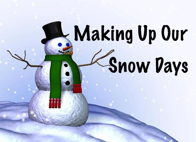 Snow Makeup Days Scheduled Thumbnail Image