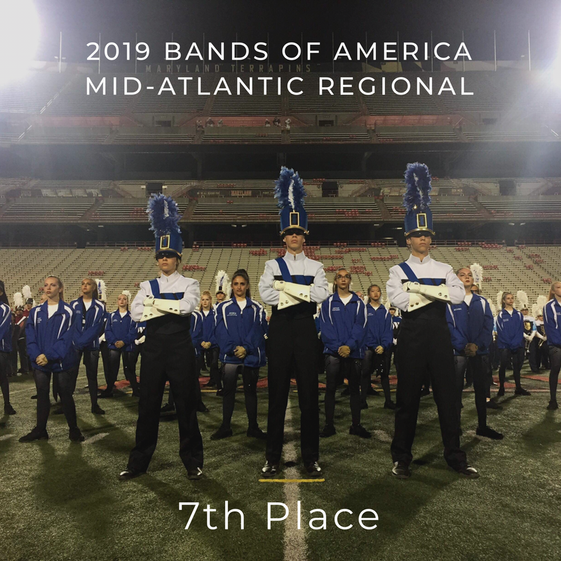 Photo of Westfield High School Marching Band, Bands of America Mid-Atlantic Regional Finalists.