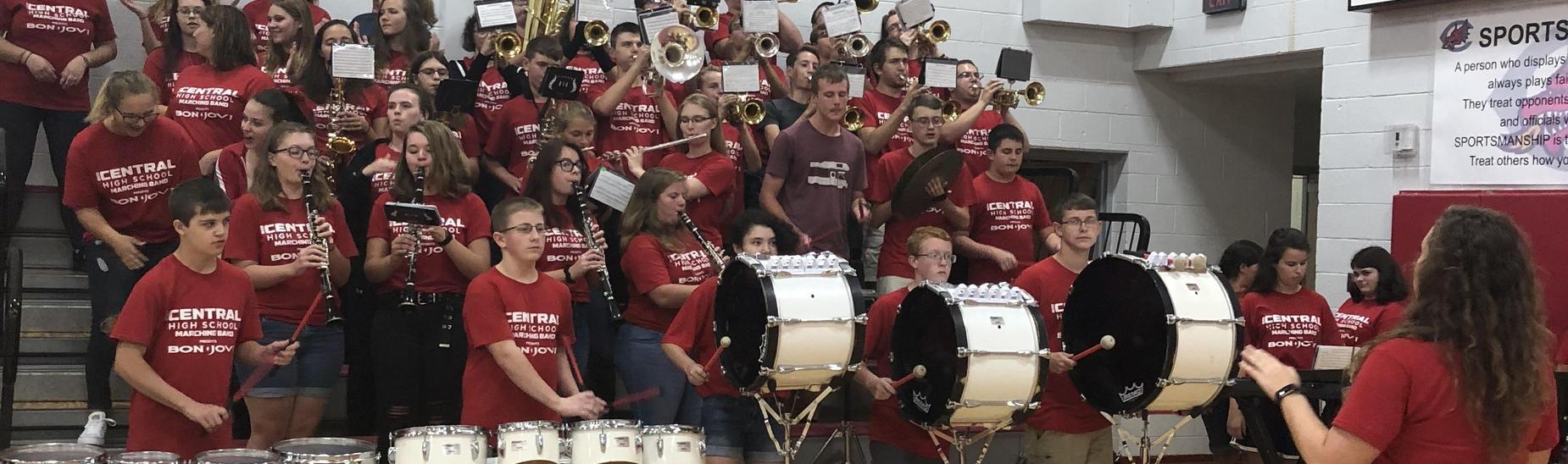 Band at pep assembly